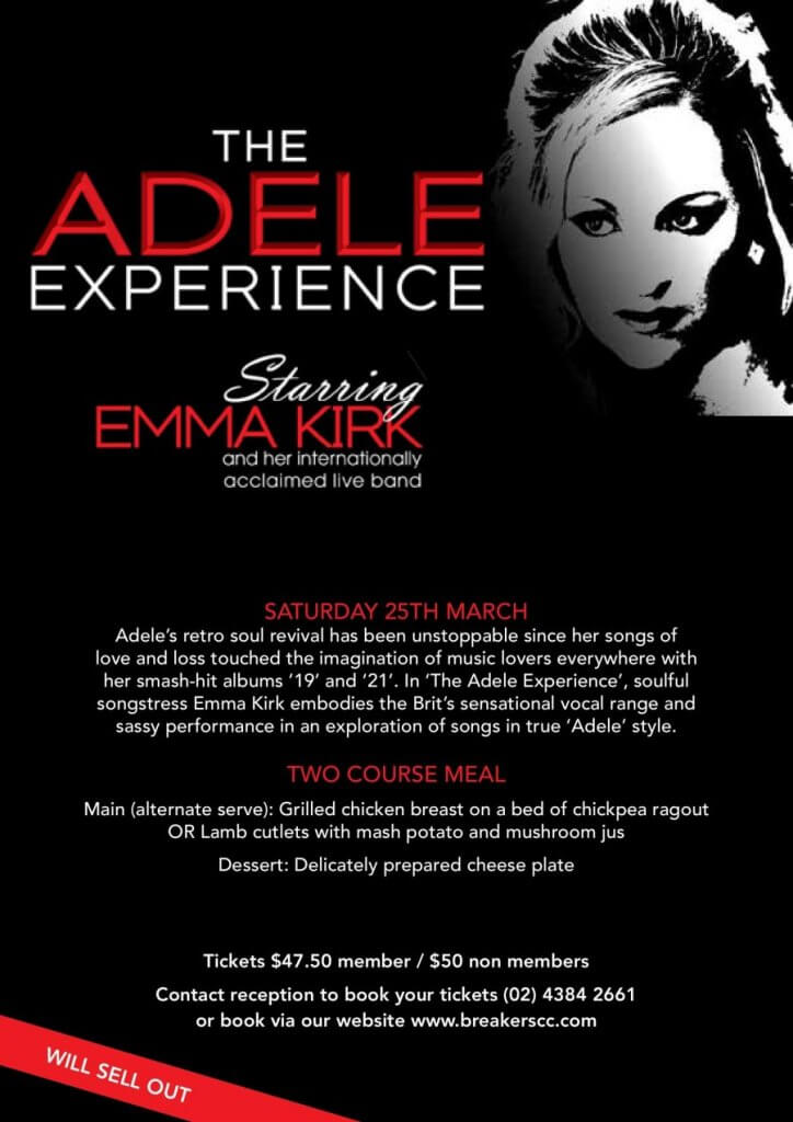 Breakers Country Club - The Adele Experience